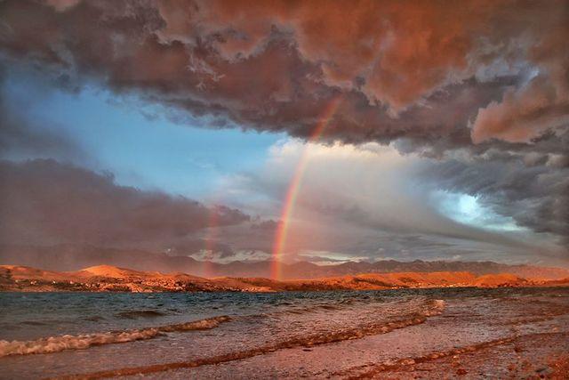 The Rainbow Over the Sea