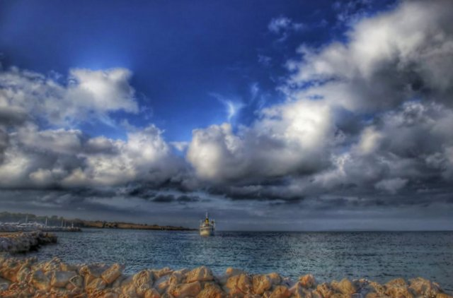 Heavy Clouds Over the Island of Pag