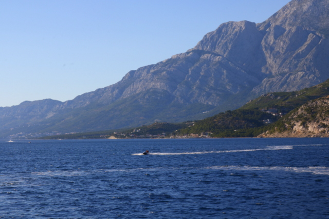 Between Biokovo Mountain and Adriatic Sea